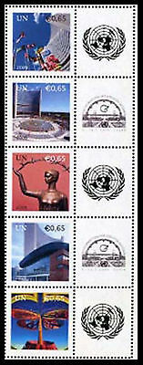 United Nations UN S27 Vienna 0.65 #449b, 2009 Personalized Stamps Strip of 5