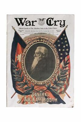William Booth Salvation Army 1912 WAR CRY MEMORIAL Issue