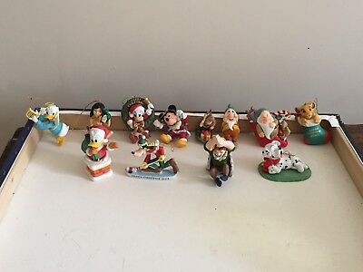 Disney Christmas Ornaments Lot Of 12