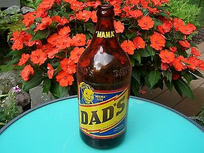 """Collectible Old Dad's Root Beer Bottle - One Quart """"MAMA SIZE"""" - Nice!"""