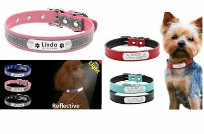 Personalised Pet Collar For Dog/Cat Free Customised Engraved Puppy Dog Small Cat