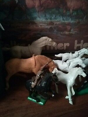 lot of 15 old vintage plastic horses ,