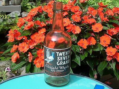 Collectible Old Whisky Bottle - Kentucky - Twenty Seven Grand - Brown - Forman