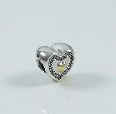 Authentic Genuine Pandora Genuine Always in my Heart Charm 791523CZ