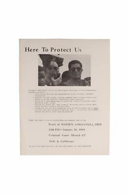 Chicago Police Red Squad Handbill  Here to Protect Us Civil Rights