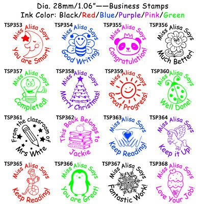 PrintValue Peacemaking Symbol Self Inking Round Teacher Stamp COLOP R12 Mini Rubber Office Stationary Stamp