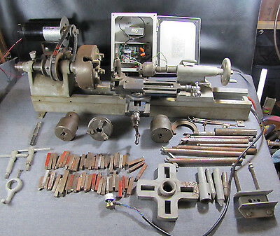 Metal Lathe, Multiple Chucks, Tooling, Variable Speed DC Motor and Power Supply