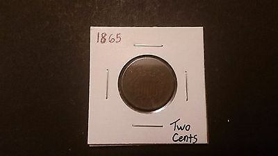 1865 Two Cent Piece! Free Shipping!