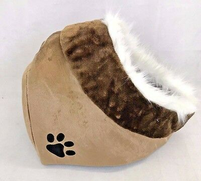 Cat Kitten Pet Bed Igloo House Cave Dog Puppy Sleeping Snug Cozy Mat