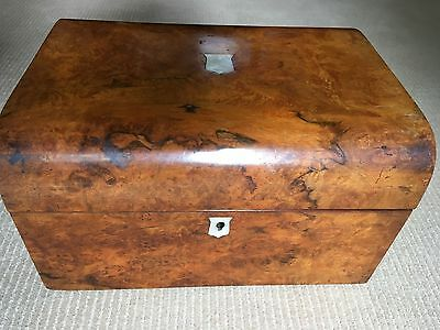Antique Vintage Wooden Writing Box with Mother of Pearl Inlay