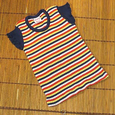 Vintage Toddler Buster Brown Knit Top Cap Sleeves  size 24 M ? read size info
