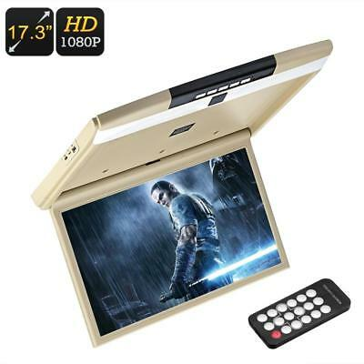 "17.3"" Car Roof Monitor - 1080p FHD,Built-in DVD Player/Speakers,USB,SD Card slot"