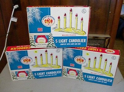Vintage Worldwide Decorative Lites 5 Candle Candolier Bulbs included. 3 boxes.