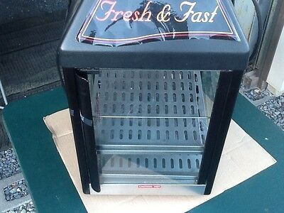 Grab N Go STAR Hot Commercial Food WARMER Glass Cased 3 Stainless Shelves 15MCPT