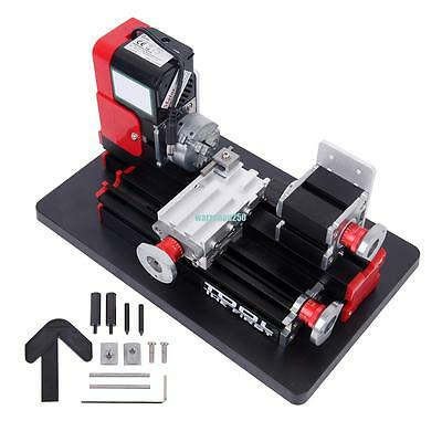 Model Making Mini Metal Motorized Lathe Machine Woodworking Power Tool  DIY
