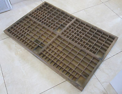 Lovely LARGE vintage FRENCH PRINTERS TRAY - FREE POST Letterpress drawer display