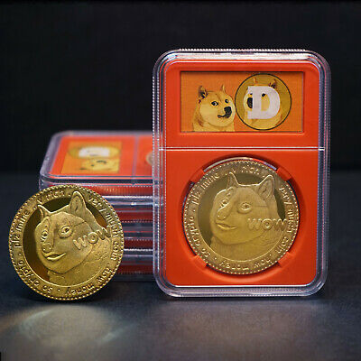2018 Bitcoin Gold Plated Physical Coin Commemorative Collection Fathers Day Gift