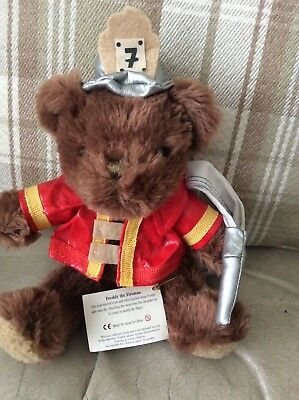 Teddy Bear Collection Freddie The Fireman  with tag