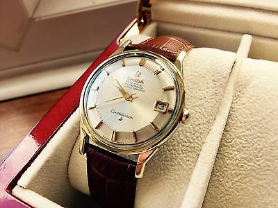 Vintage Omega Constellation Pie Pan Mens Cal 551 Watch Automatic Perfect Dial