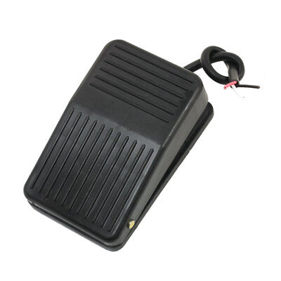 Foot Pedal Switch 220V 10A SPDT Nonslip Black Plastic Momentary ON/OFF Control