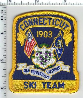 Connecticut State Police Ski Team Cap/Hat Patch - new from the 1990's