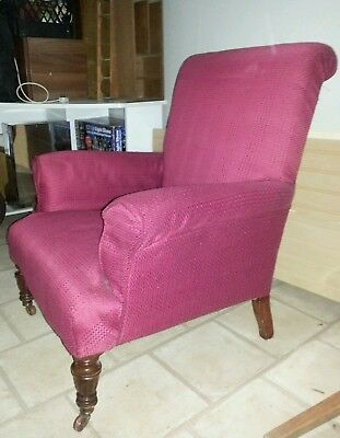 Late Victorian early Edwardian Country House chair