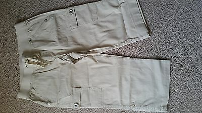New Girls Justice Capri Pants Cropped Beige cream color 10 1/2 Elastic waist