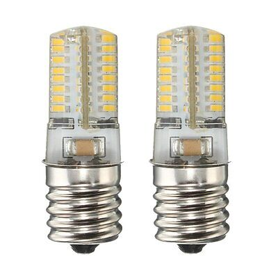 2x Dimmable E17 SMD LED Microwave Oven freezer light Lamp bulb Silicone 110/220V