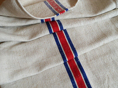European Hungarian Red Blue Stripe Grain Sack Flour Sack Cushion Pillow Case