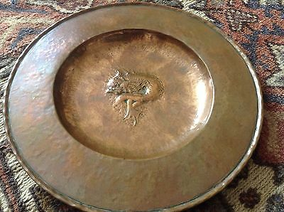 Arts & Crafts Newlyn School Copper Plate/Tray Stamped