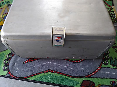 1950's Aluminum Pepsi Cola The Light Refreashment Cooler W/ Bottle Openers  Tray