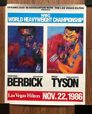 MIKE TYSON...'5' Original Fight Posters from his defining fights !!!
