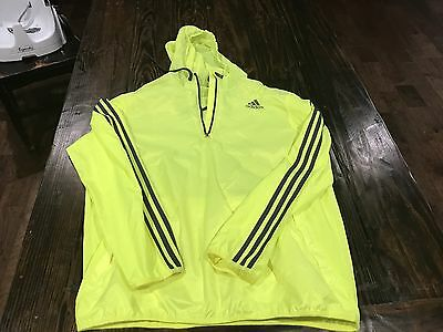Yellow Adidas Rain Coat/Pullover Great for Cycling Size Men's Large
