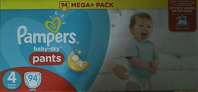 pampers baby dry pants - taille 4 - 184 couches