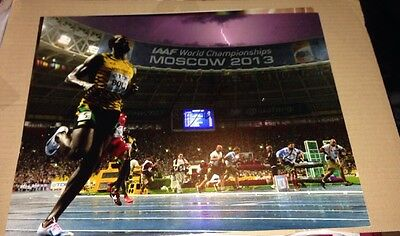 Usain Bolt Signed (Moscow 2013)