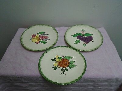 Blue Ridge Southern Potteries Salad Plates Fruit Design Set Of Five!