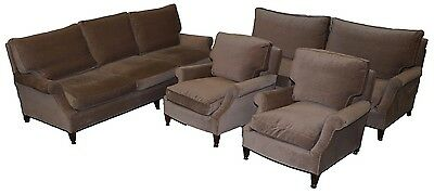 Rrp £24000 Howard & Son's Four Piece Suite Pair Of Armchairs 3 & 4 Seater Sofa