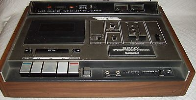 Vintage Sony Stereo Cassette-Corder, TC-165, Auto Reverse/Closed Loop