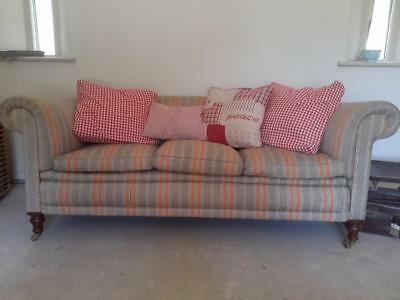 Victorian chesterfield sofa turned legs  to castors scroll down. Couriers