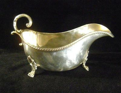 Antique Silver Plated on Copper : Sauce Boat / Gravy Dish : Georgian Style