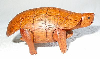 Quality WOOD TURTLE Hand-Carved Mahogany DETAILED *3.5 Inch* FREE SHIPPING