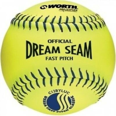 Worth C11BYSUC USSSA Stamped Fastpitch 27.9cm Protac Optic Yellow Ball. Free Del