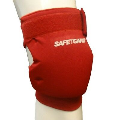 (Large, Scarlet Red) - SafeTGard Short Sliding Leg Pad(Available in 5 Colours).
