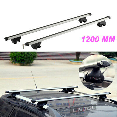 Generic Aluminum Alloy 1200MM Universal Car Top Roof Rack Cross Bars