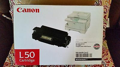 Genuine Canon L50 L-50 New Toner Cartridge In Factory Sealed Bag in Open Box