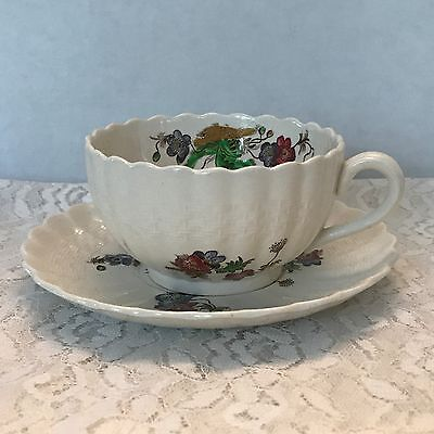 "COPELAND SPODE China Teacup and Saucer Set ""Wicker Lane"""