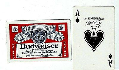 VINTAGE 1970's BUDWEISER PLAYING CARDS