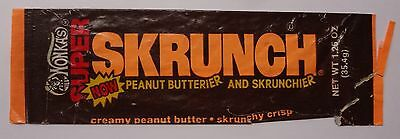 1977 Willy Wonka Super Skrunch Bar candy wrapper Wonka's