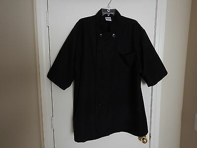 Chefs Unisex Black Cooking Coat Size XXL