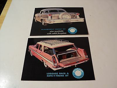 2 Vintage photos, advertising cards of Coachcraft Luggage rack and Oldsmobile